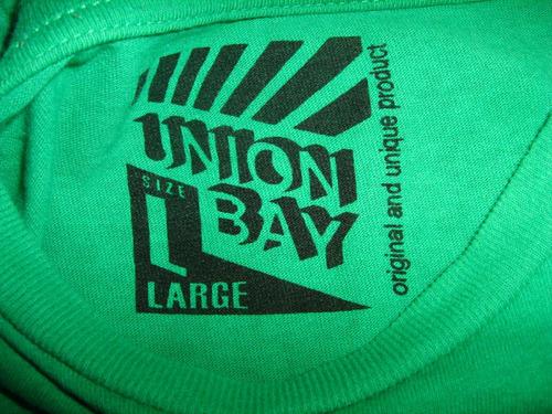 polera hombre verde claro estampado unionbay talla l algodón