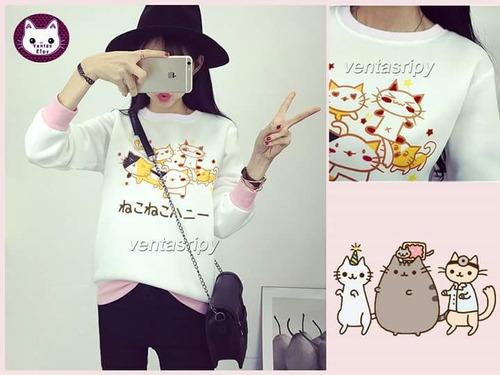 polera kawai gatitos moda koreana  importado oferta navidad