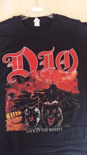polera mujer dio lock up the  death black thrash heavy metal