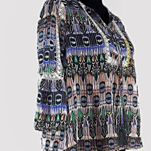 polera mujer jessica simpson, talla xs color turquesa