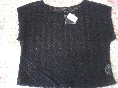 polera negra alaniz talla s $4000 nueva con etiquet