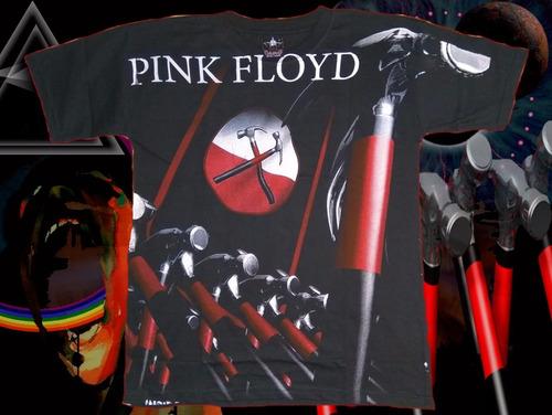 polera pink floyd estampado total talla m