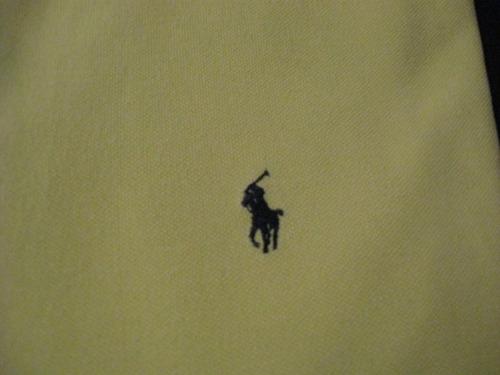 polera polo de ralph lauren talla l manga corta color amaril