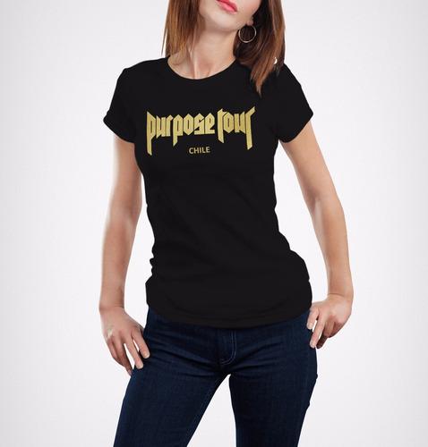 polera purpose tour 2017 justin bieber para dama