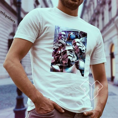 polera star wars stormtroopers selfie mipolera