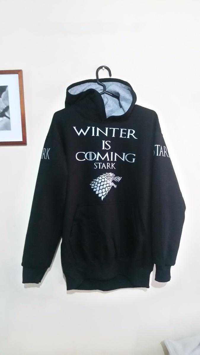 Sudadera Polera Negro De 80 Of Thrones Tronos Juego Game Winter S fqUwqZx