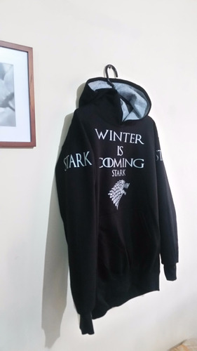 polera sudadera negro game of thrones juego de tronos winter
