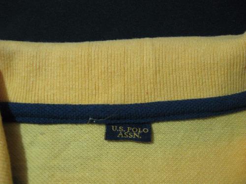 polera u.s.polo.assn talla s manga corta color amarilla
