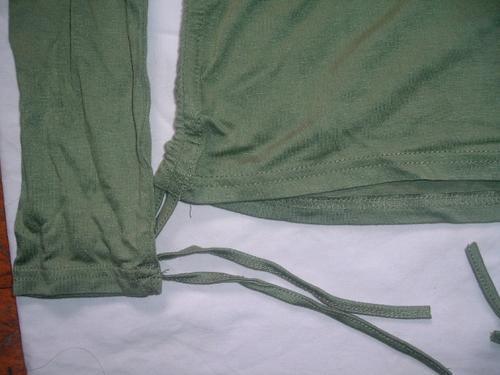 polera verde estampada