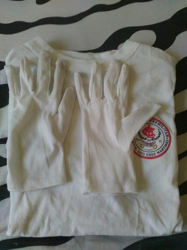 polera y guantes blancos premilitar talagante