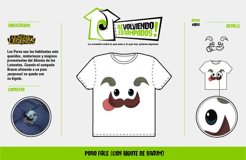 poleras estampadas poro (league of legends)