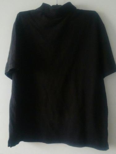 poleras manga corta morada negra con cuello hombre talla l