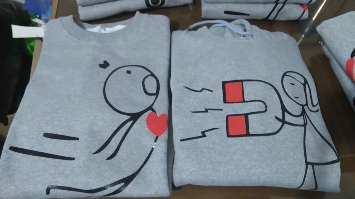 7bff27b1c93c2 poleras para parejas personalizadas 100 % algodón. Cargando zoom.