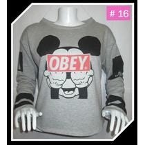Polera Obey Alternativa Mickey Para Mujer Regalo