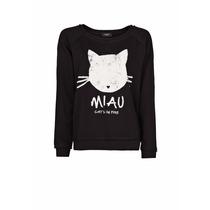 Mng Polera Miau Talla S Color Negro