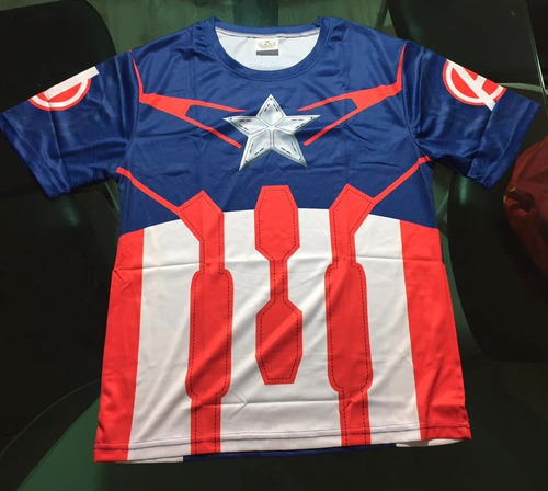 poleras súper héroes spiderman - capitan america - batman