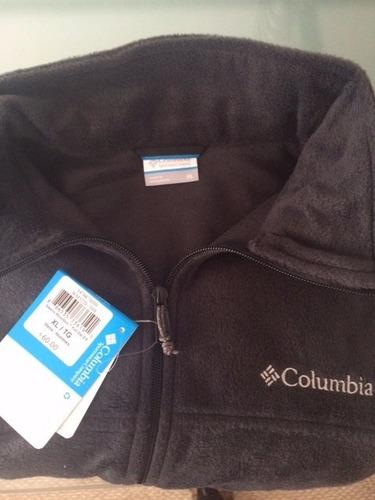 polerón columbia polar hombre negro/gris talla l etiqueta