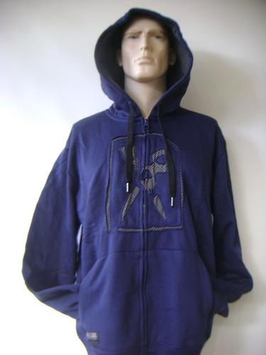 poleron con capucha  marc ecko talla xl azul navy oferta