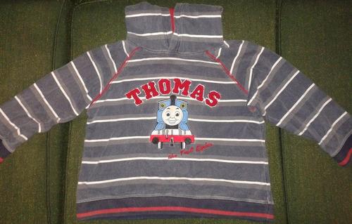 poleron con capucha thomas the train para niños - nuevo!