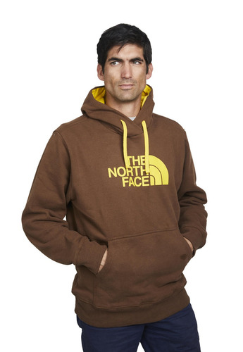 poleron half dome hoodie café amarillo
