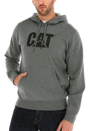 poleron hombre design mark hooded sweatshirt gris cat