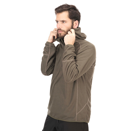 poleron hombre jacarandá nano-f 1/4 zip hoody negro lippi