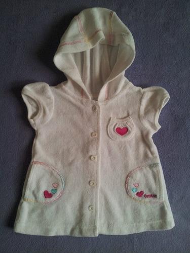 polerón manga corta c/capucha osh kosh niña 12 meses