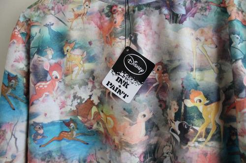 poleron mujer disney estampado multicolor bambi nuevo