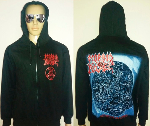 polerón o chaqueta con capucha graveland impiety necrophobic