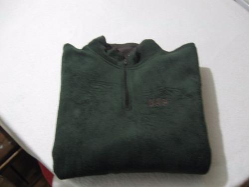 poleron polar gap talla m impecable color verde medio cierre