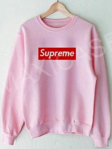 poleron rosado supreme alternativo.