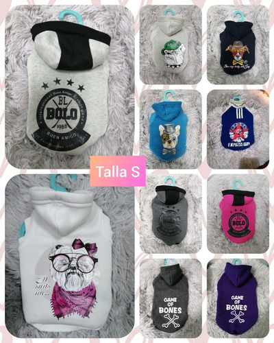 polerones, chalecos, pijamas para mascotas