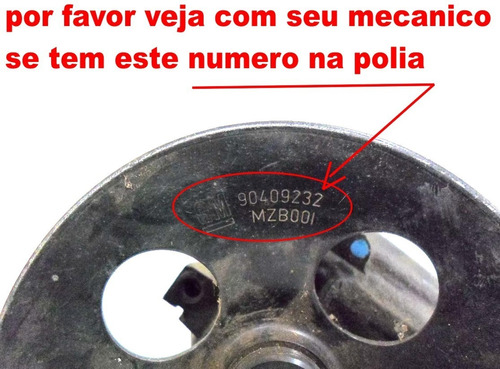 polia bomba direção hidráulica vectra 94-11 astra 99-11