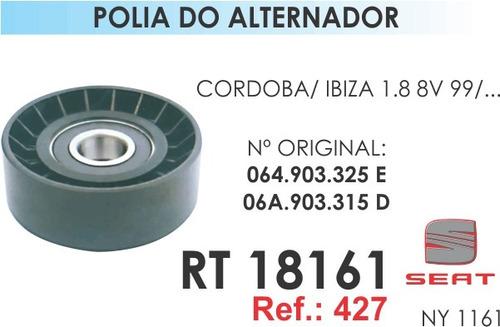 polia do alternador - cordoba / ibiza 1.8 8v 99/... - 427