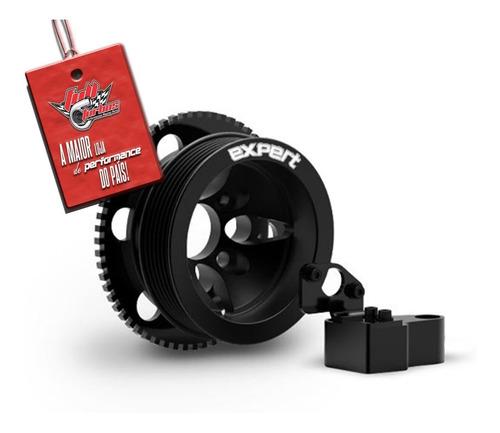 polia kit roda fônica expert poli-v vw ap 16v preta