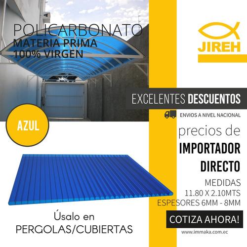 policarbonato 6mm con garantía para techo cubierta pergola