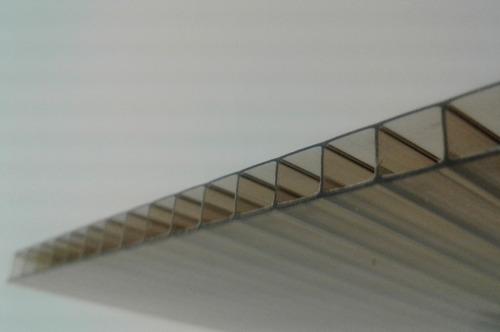 policarbonato alveolar 4 mm (2,90 x 2,10) fume color bronce