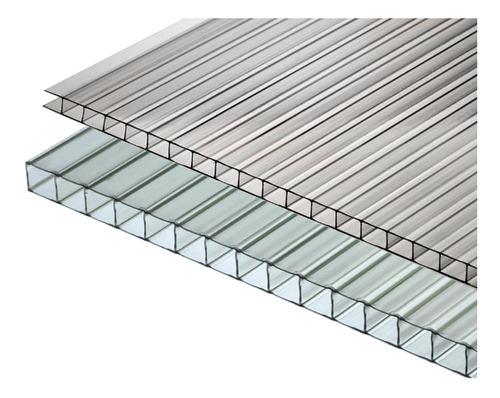 policarbonato alveolar 4 mm transparente 5,80 x 2,10 mts
