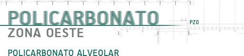 policarbonato alveolar de 6mm x 2,10m x 5,80m .