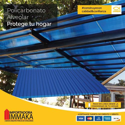 policarbonato alveolar jireh, pergolas, techos, cubiertas p2