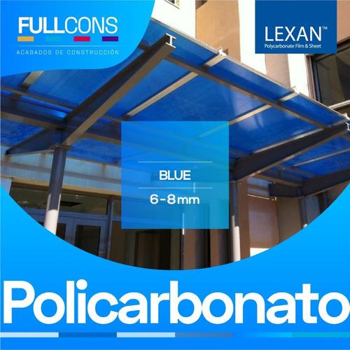 policarbonato alveolar para cubiertas techos pérgolas