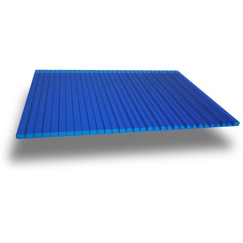policarbonato azul 6mm con garantía para techos pergolas