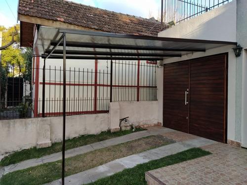 policarbonato colocación de techos, pérgola hierro y madera