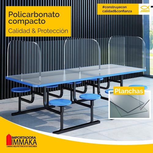 policarbonato compacto acrílico, transparente, protección uv