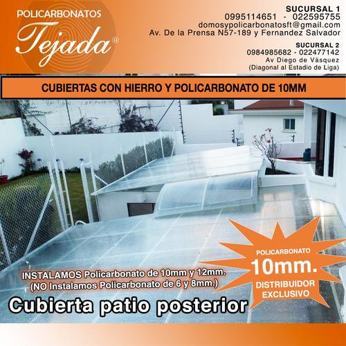 policarbonato - cubiertas con hierro