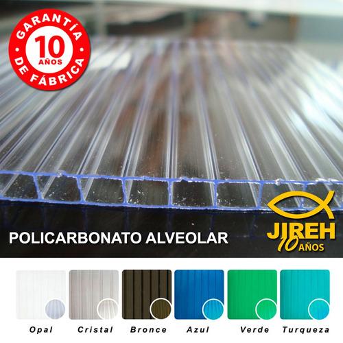 policarbonato jireh 6mm (11.80 x 2.10) - alucobond -acrílico
