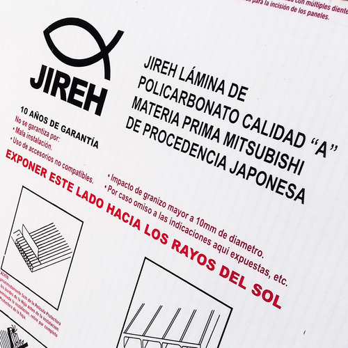 policarbonato jireh 6mm (5.90 x 2.10)-alucobond acrílico pvc