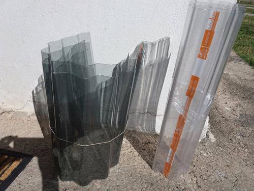 policarbonato ondulado gris polygal 1.26m x 5.80m