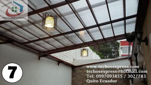 policarbonato polygal techos corredizos pergolas cubiertas