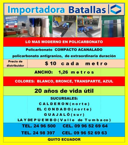 policarbonato  rigido macizo teja española pvc acrilico    f